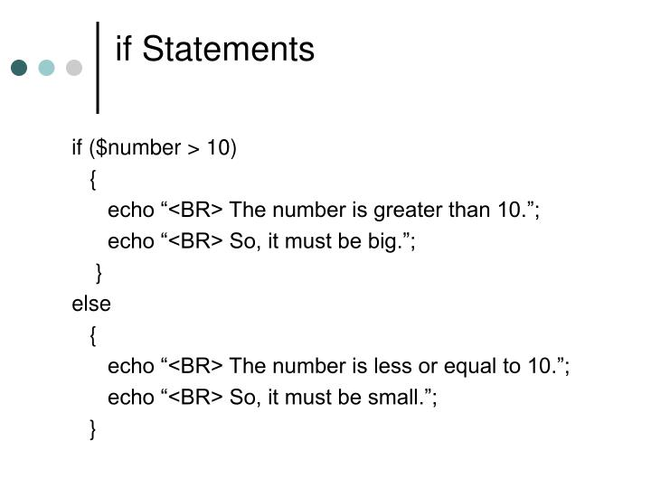 if Statements
