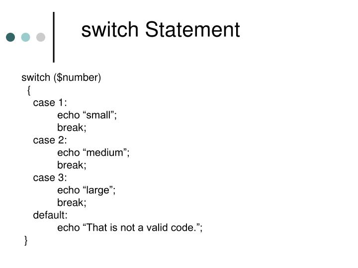 switch Statement