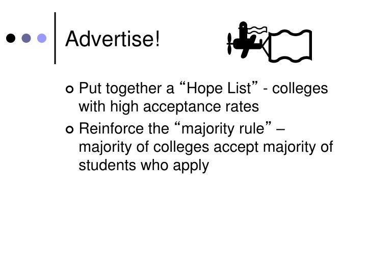 Advertise!