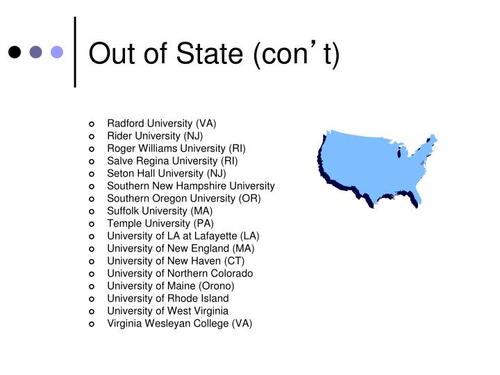Out of State (con