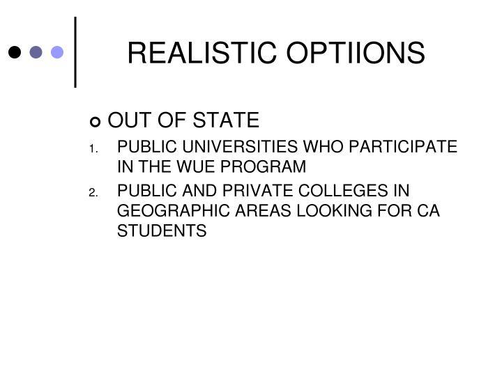 REALISTIC OPTIIONS