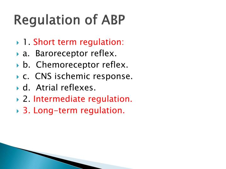 Regulation of ABP