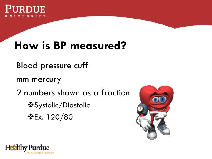 How is BP measured?