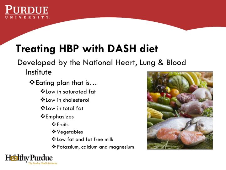 Treating HBP with DASH diet
