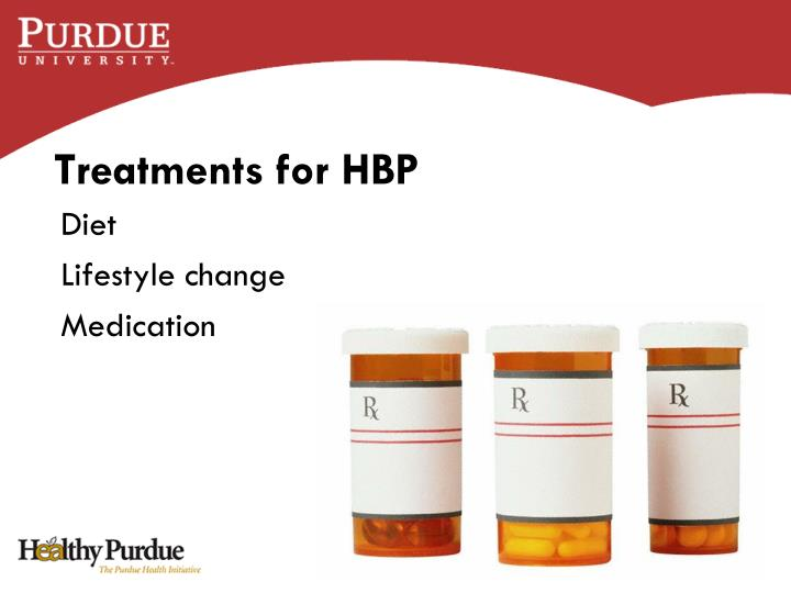 Treatments for HBP