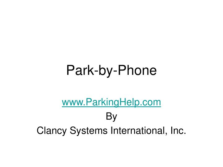 Park by phone