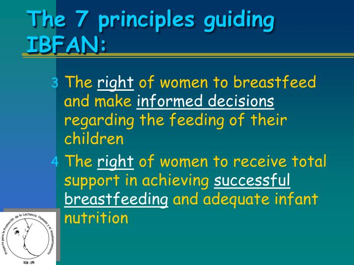 The 7 principles guiding IBFAN: