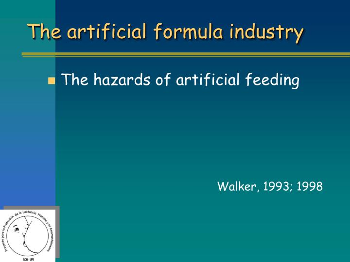 The artificial formula industry