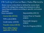 cb coding course basic data elements
