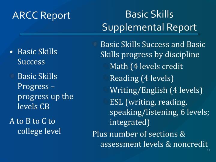 ARCC Report