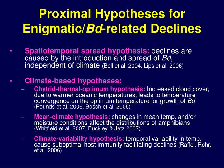 Proximal Hypotheses for Enigmatic/