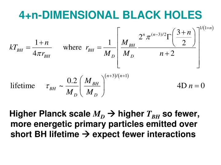 4+n-DIMENSIONAL BLACK HOLES