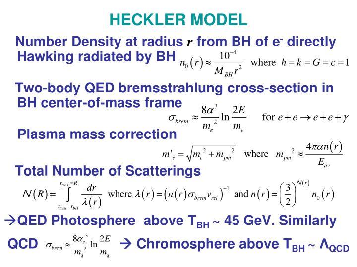HECKLER MODEL