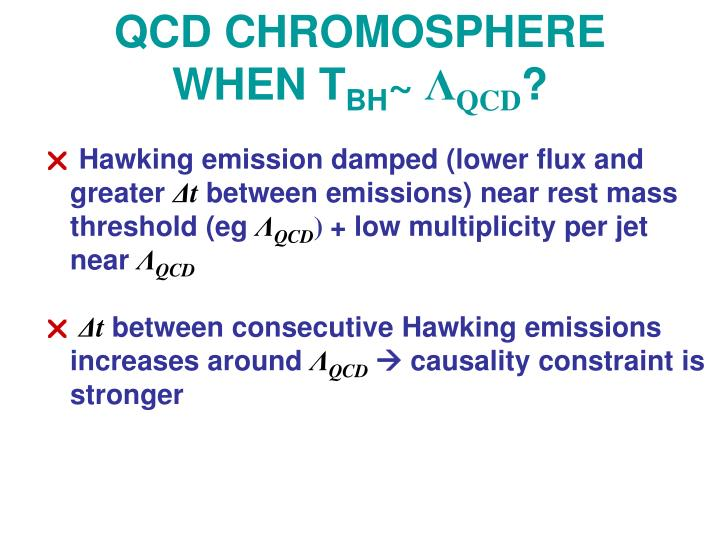 QCD CHROMOSPHERE