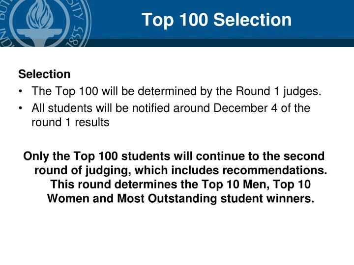Top 100 Selection