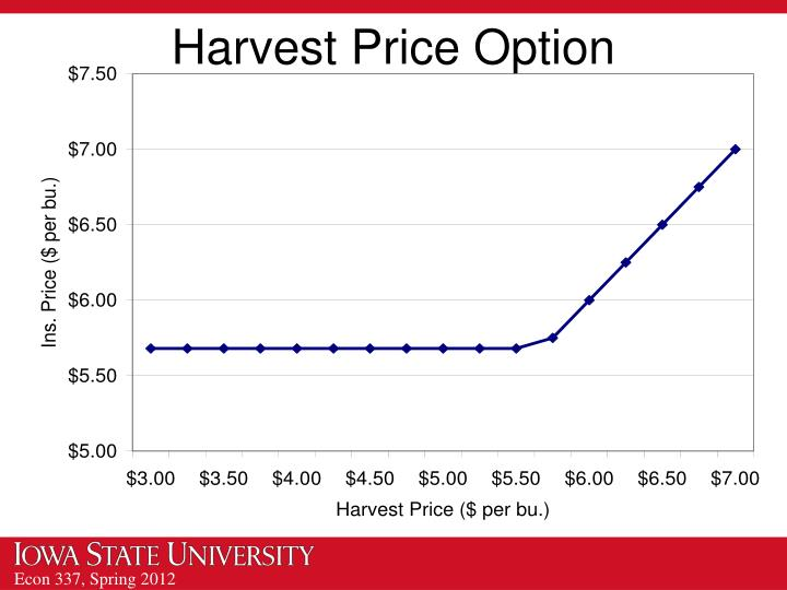 Harvest Price Option
