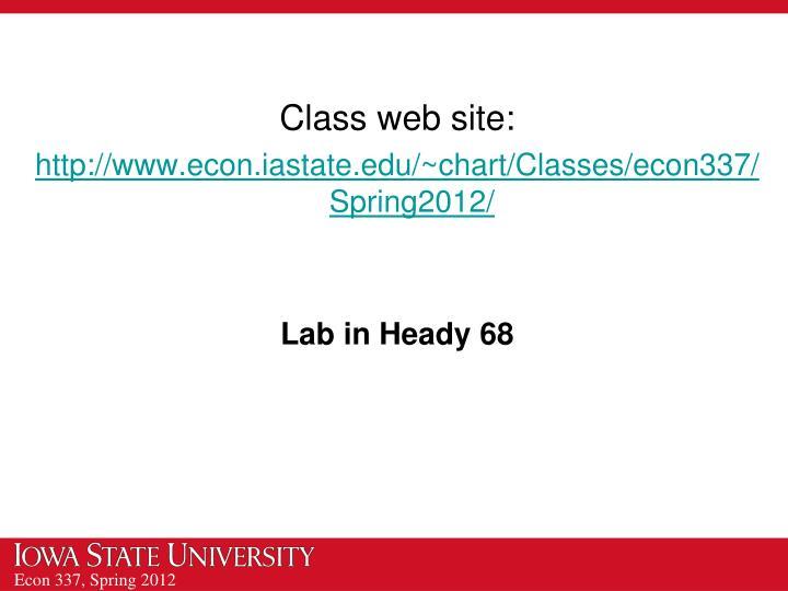 Class web site: