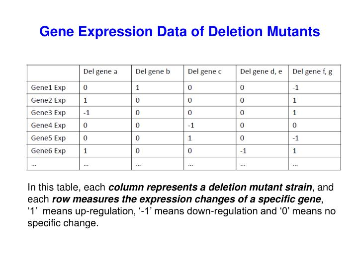 Gene Expression Data of Deletion Mutants