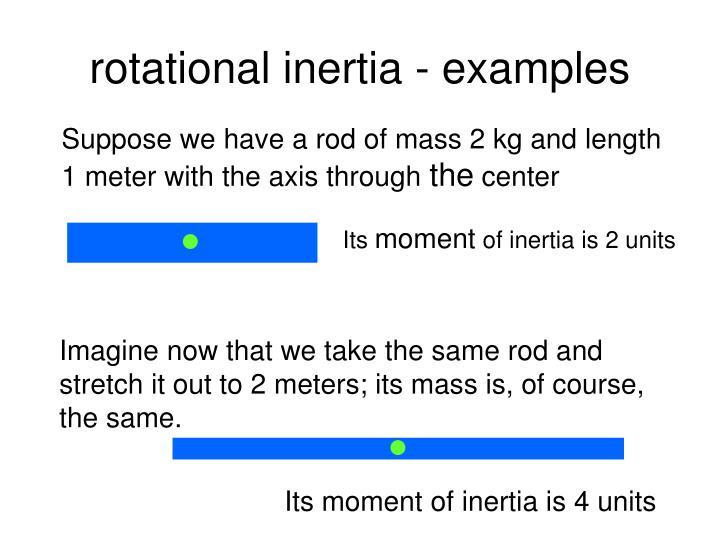 rotational inertia - examples