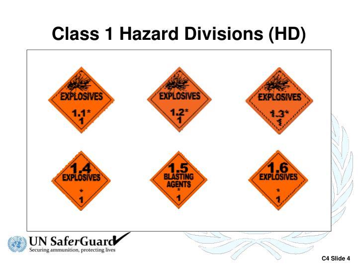 Class 1 Hazard Divisions (HD)
