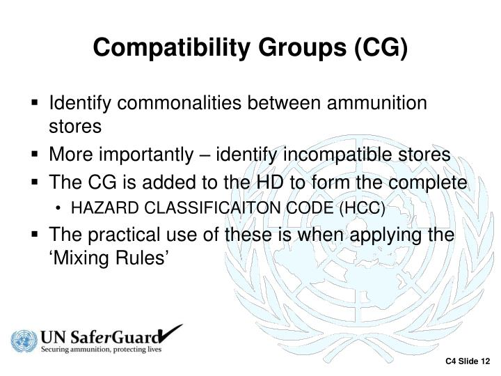 Compatibility Groups (CG)