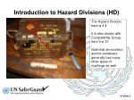 introduction to hazard divisions hd