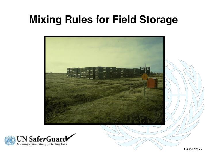 Mixing Rules for Field Storage