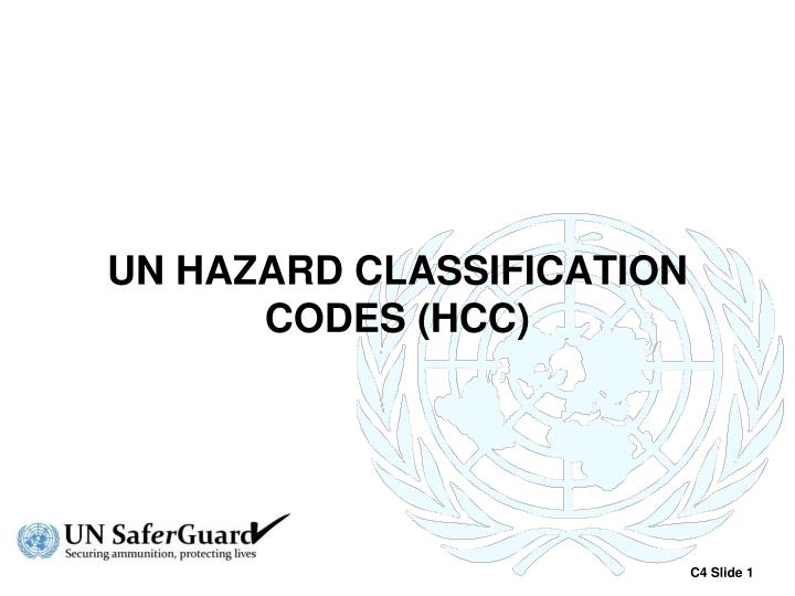 Un hazard classification codes hcc