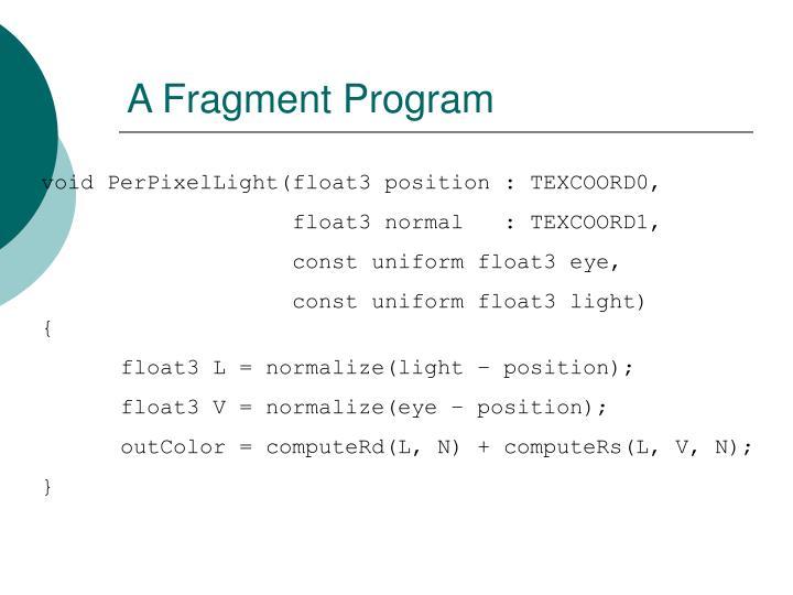 A Fragment Program