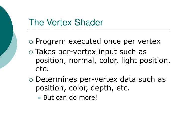 The Vertex Shader