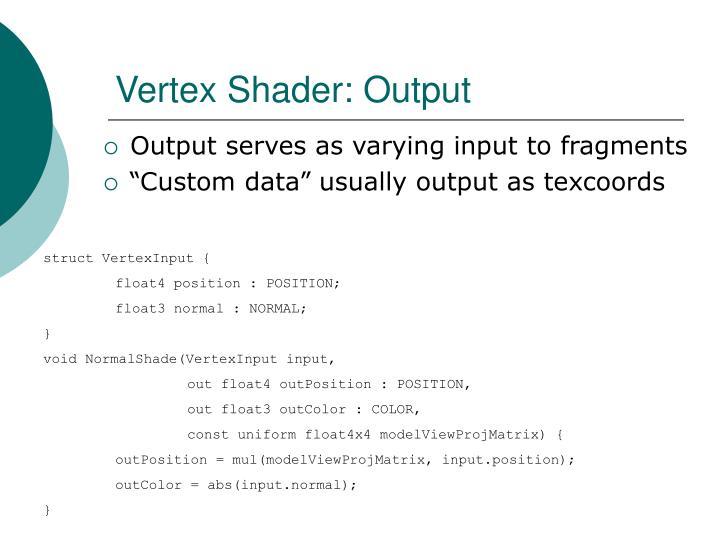Vertex Shader: Output
