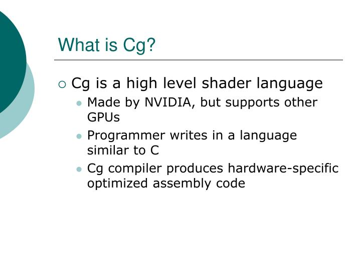 What is Cg?
