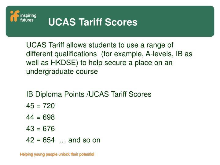 UCAS Tariff Scores