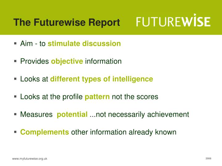 The Futurewise Report