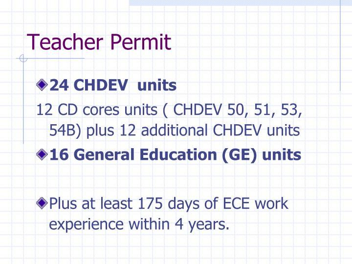 Teacher Permit