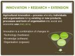 innovation research extension