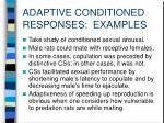 adaptive conditioned responses examples1
