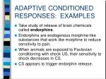 adaptive conditioned responses examples2