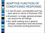 adaptive function of conditioned response2