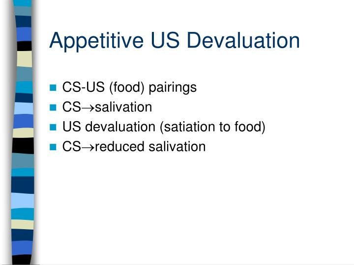 Appetitive US Devaluation