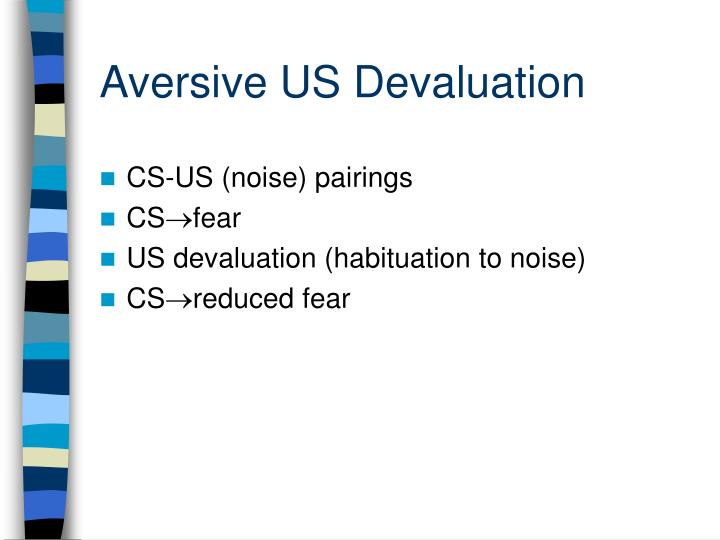 Aversive US Devaluation
