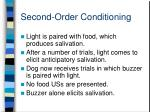 second order conditioning