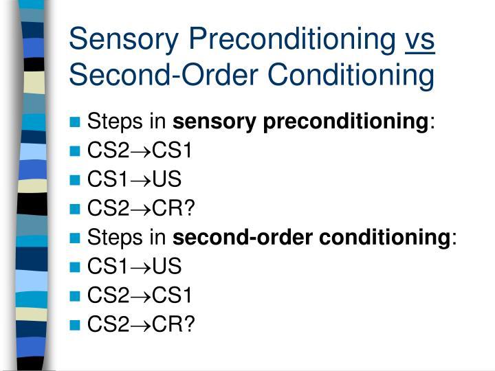 Sensory Preconditioning