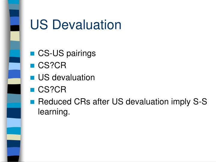 US Devaluation