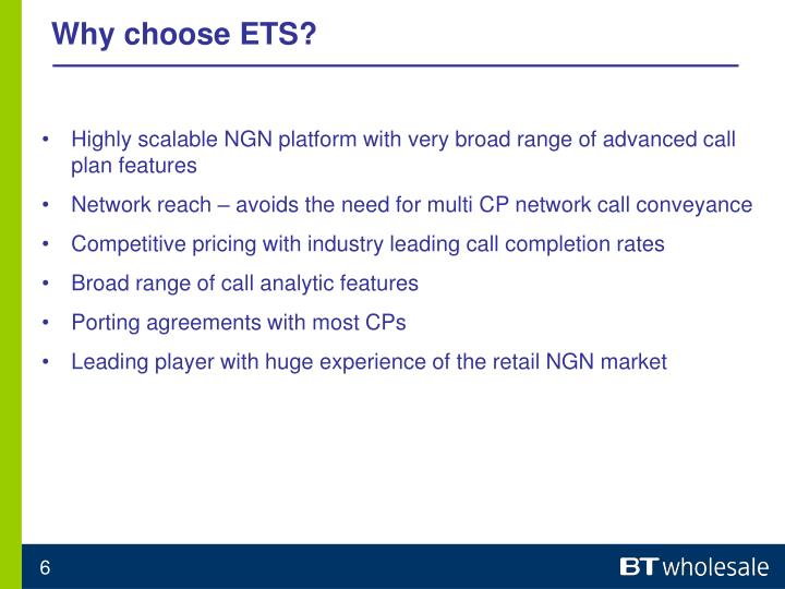 Why choose ETS?