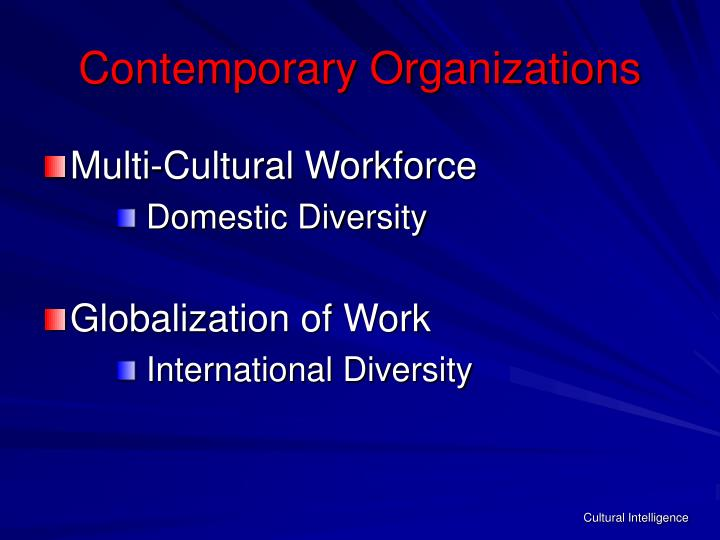Contemporary organizations