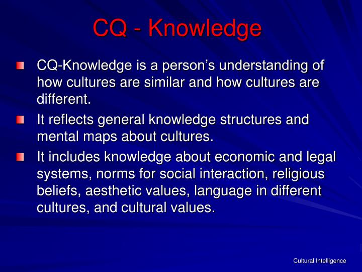 CQ - Knowledge