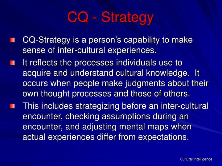 CQ - Strategy