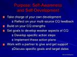 purpose self awareness and self development