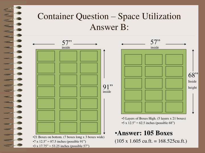 Container Question – Space Utilization